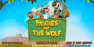 Help the Big Bad Wolf in Piggies and the Wolf at Winner Vegas