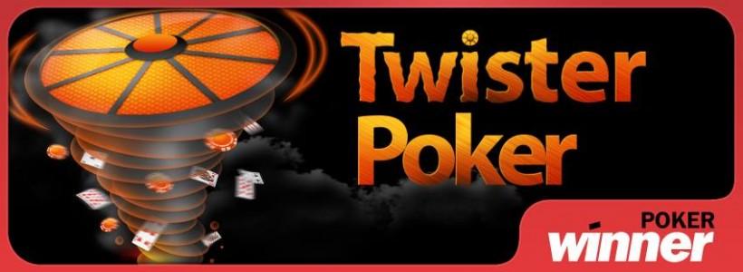 New Twister tournaments at Winner Poker offer €10K Jackpots