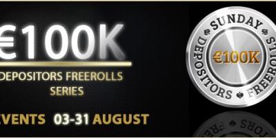 August Depositor Freerolls at Winner Poker