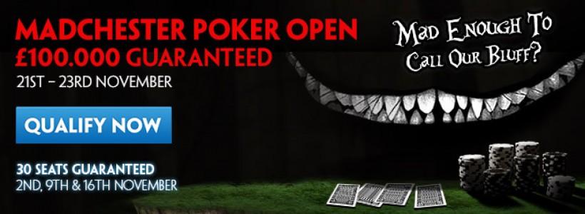 Win MADchester Poker Open Seats at Winner Poker