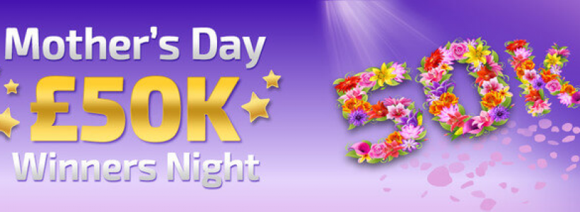 Win A Share of £50,000 on Mother's Day at Winner Bingo