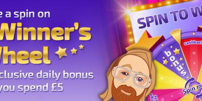 Spin Mr Winner's Wheel for Bonuses at Winner Bingo