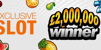 Exclusive £2 Million Winner Slot Comes to Winner Casino