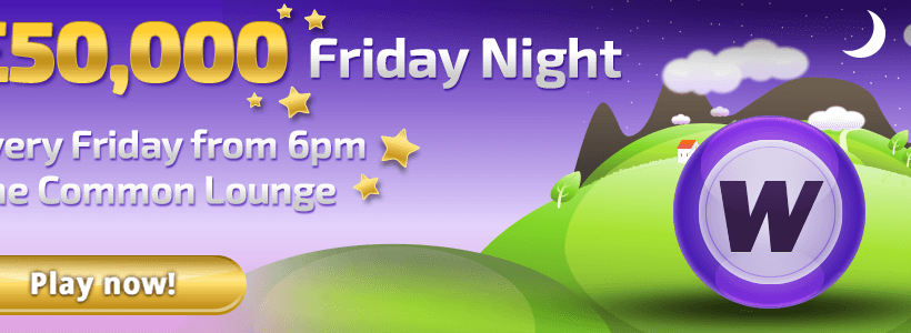 Win a Share of £50,000 Every Friday at Winner Bingo