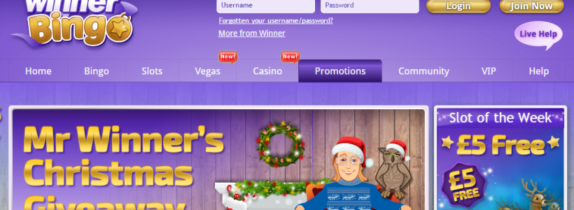 Enjoy The Final Days of Winner Bingo Christmas Bonus Bonanza