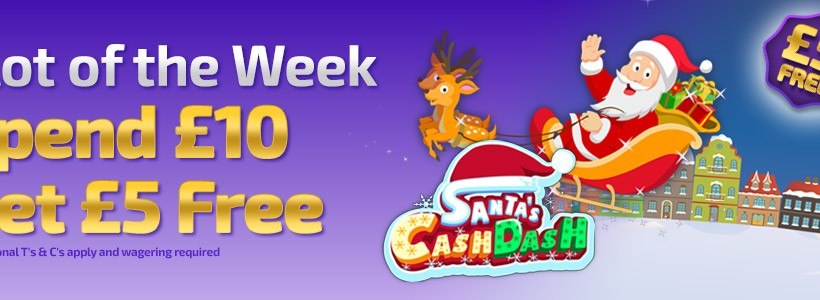 Join Santa's Cash Dash for a £5 Bonus at Winner Bingo