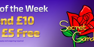 Claim a £5 Bonus Playing Secret Garden Slots at Winner Bingo