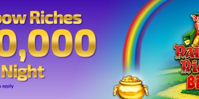 Winner Bingo Runs Monthly £10,000 Rainbow Riches Prize Night