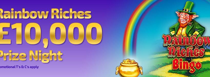 Winner Bingo Runs Monthly £10,000 Rainbow Riches Prize Night